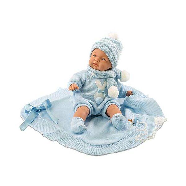 Llorens újszülött fiú baba takaróval