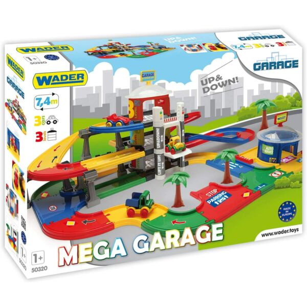 Wader Kis Cars Mega 3 emeletes garázs lifttel
