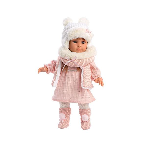 Llorens Nicole 35 cm-es baba rózsaszín ruhában