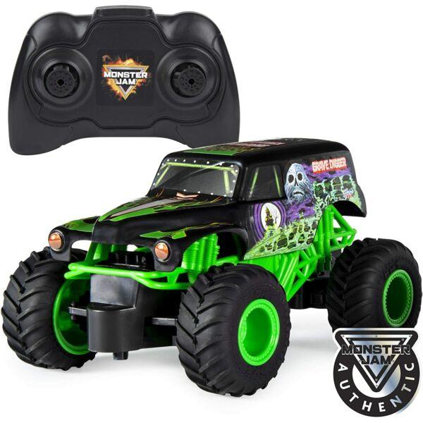 Monster Jam RC: Grave Digger távirányítós autó - 1:24