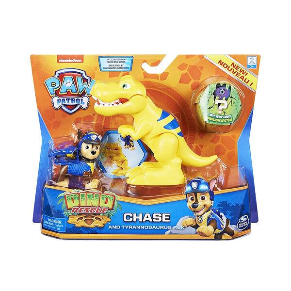 Mancs őrjárat Dino Rescue: Chase figura Tyrannosaurus Rex dinoszaurusszal