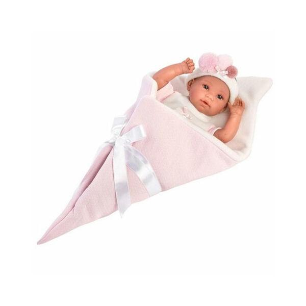 Llorens újszülött sírós lány baba fagyi pólyában 36 cm