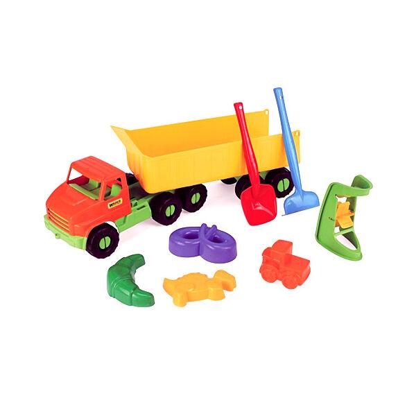 Wader nyerges kamion homokozószettel 68 cm