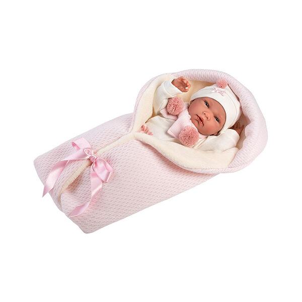 Llorens Nica lány baba pólyában 40 cm