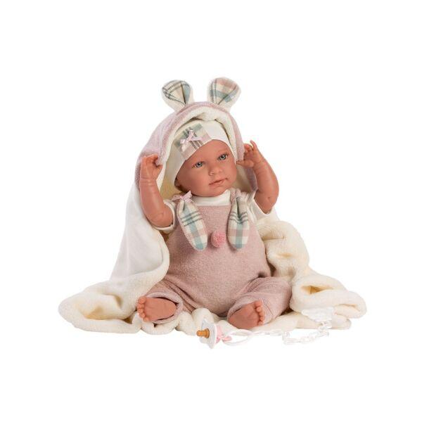Llorens Mimi újszülött baba takaróval 42 cm