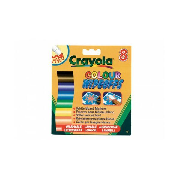 Crayola 8 db lemosható vastag filc fehér táblára