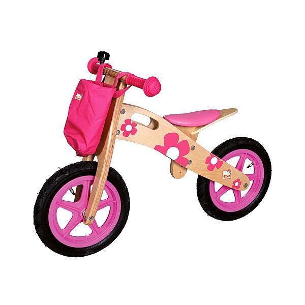Bino Toys virágos fa futóbicikli rózsaszín