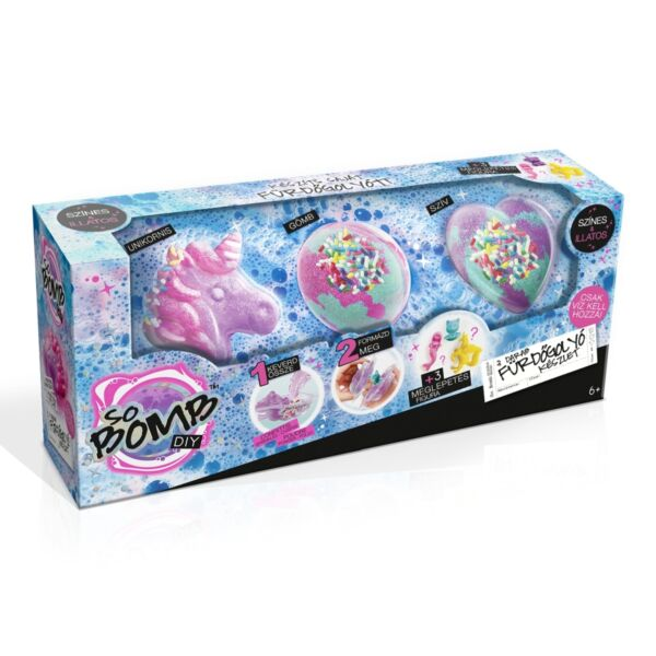 Canal Toys - So Bomb fürdőgolyó 3 db-os (többféle)