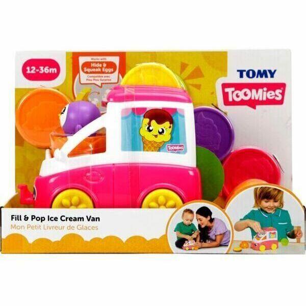 Tomy Toomies: Vidám fagyiskocsi foglalkoztató - rózsaszín