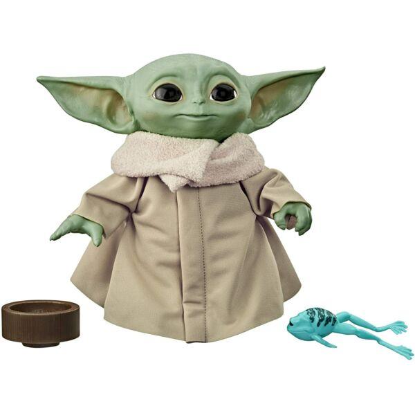Star Wars Mandalorian Baby Yoda beszélő plüss - 19 cm