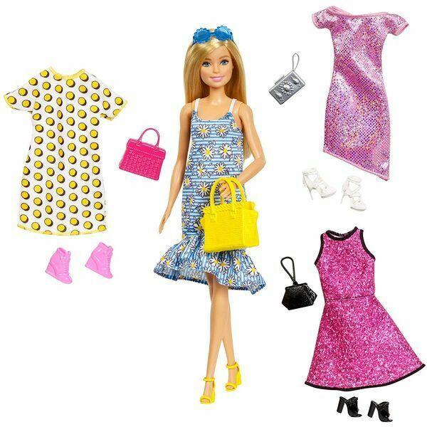 Barbie: Öltözék kollekció szőke hajú babával