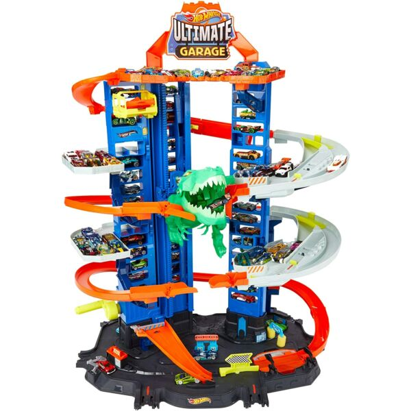 Mattel Hot Wheels: T-rex ultimate garázs kisautóval - 90 cm