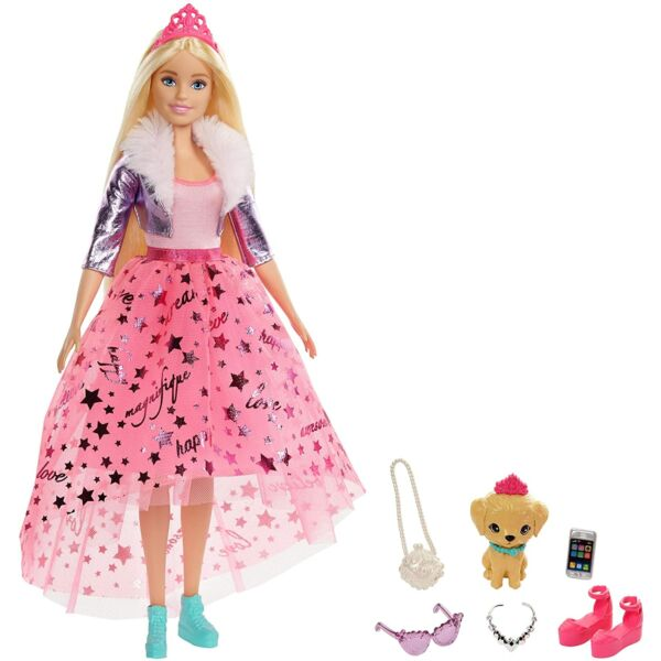 Barbie: Hercegnő kaland - Szőke hajú baba kiskutyával