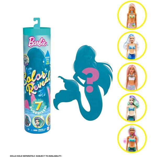Barbie: Color Reveal meglepetés sellő baba kiegészítőkkel