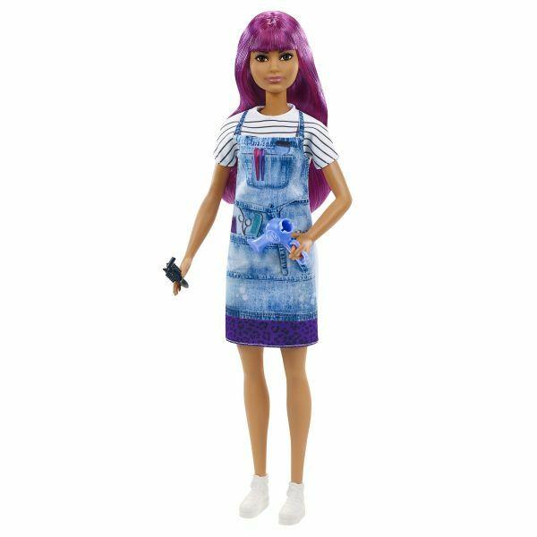 Barbie: Karrier baba - lila hajú fodrász