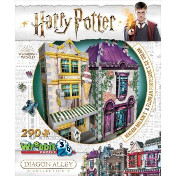 3D habszivacs puzzle Harry Potter - Madam Malkin talárszabászata és fagylaltszalon