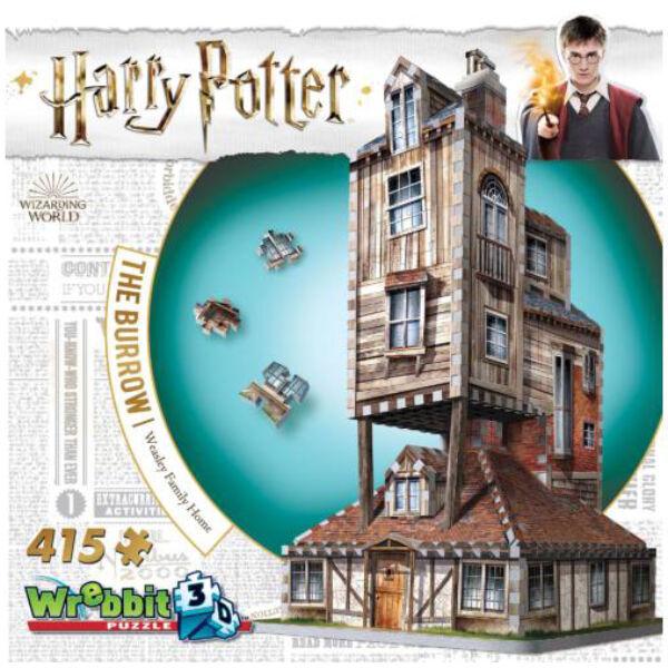 3D habszivacs puzzle Harry Potter- Az odú (Weasley-ék háza)