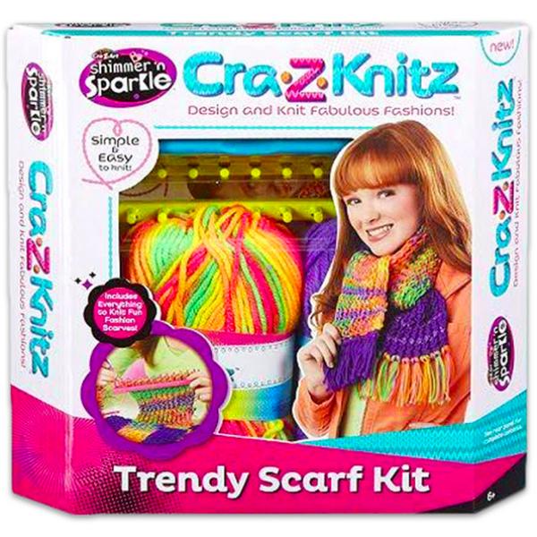 Cra-Z-Knitz Trendi Csajszi Sál Design